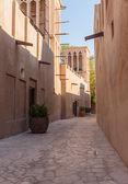 Narrow deserted street in the old city — Zdjęcie stockowe