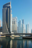 Modern buildings in Dubai Marina — Foto de Stock
