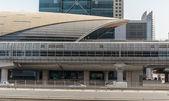 Metro subway station in Dubai United Arab Emirates — Stock Photo