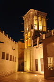 Night view of the streets of the old Arab city Dubai UAE — Stock Photo