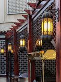 Lampadaire de métal arabe traditionnel — Photo