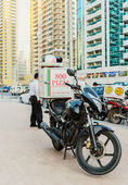Street in the central part  in Dubai — Stock Photo