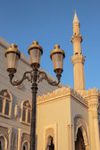 Mosque at sunrise in Sharjah — Zdjęcie stockowe