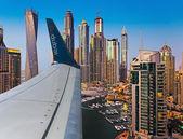 Dubai Marina at Dusk from the top — Stock Photo