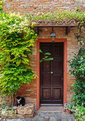 Entrance to the old Italian house — Stock Photo