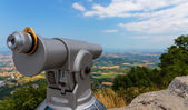 Touristic scope in perspective view — Stock Photo