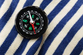 Compass on sailor shirt — Stock Photo