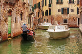 Gondola on canals of Venice — Photo