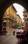 Streets of Bologna italy — Stock Photo
