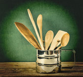 Wooden kitchenware — Stock Photo