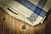 Napkins on tray — Stock Photo