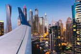 Dubai Marina at Dusk from the top — Stock Photo