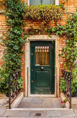 Entrance to the old  house — Stock Photo