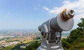 Spyglass on a mountain — Stock Photo
