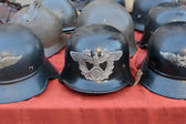 Old German helmets — Stock Photo