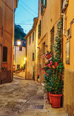 Narrow street in the old town — Stock Photo