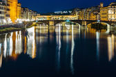 Ponte Vecchio in Florence at night — Stock Photo