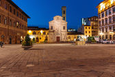 Night view of the town square in Florence Italy — Stock Photo