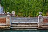 Wharf on canal in Venice — Stock Photo