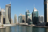 Modern buildings in Dubai Marina UAE — Stock Photo