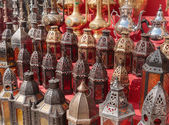 Arabic metal lights — Stockfoto