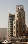 Modern Dubai  city on  bay — Stock Photo