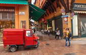 Downtown streets Bologna — 图库照片