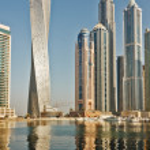 Modern buildings in Dubai Marina — Stock Photo #50854579