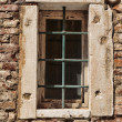 Window of the old Italian house in Venice — Stock Photo #50854651