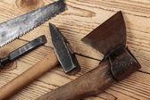 Alte zimmermannswerkzeuge — Stockfoto