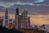 Dubai Marina at night, Dubai, UAE — Stock Photo