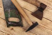 Oude timmerwerk tools — Stockfoto