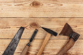 Old carpentry tools — Stock Photo