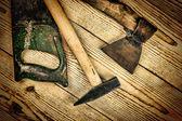 Vecchi strumenti di carpenteria — Foto Stock
