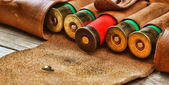 Old hunting cartridges — Stock Photo