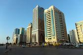 Edifícios modernos em sharjah — Foto Stock