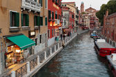 Canal in Venice at dusk. — Photo