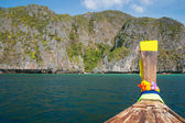 Longtail boat in Phi-phi Leh island — Stock Photo