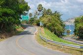 крутой дороге поворот — Стоковое фото