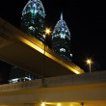 Постер, плакат: Night view of the Chrysler building in Dubai
