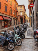Downtown streets Bologna, Italy — Stock Photo