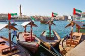 Old Arab trading ship  in Dubai — Stock Photo
