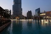 Dancing fountains downtown in Dubai — Stock Photo