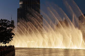Fountains downtown, Dubai UAE — Stock Photo