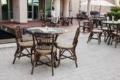 Kawiarnia w hotelu dubai, zjednoczone emiraty arabskie — Zdjęcie stockowe