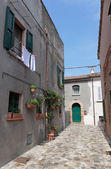 Street in the old town in Italy — Stockfoto