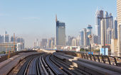 Metro subway tracks in the united arab emirates — Photo