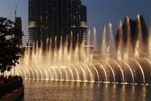 Fountains downtown, Dubai UAE — Stockfoto