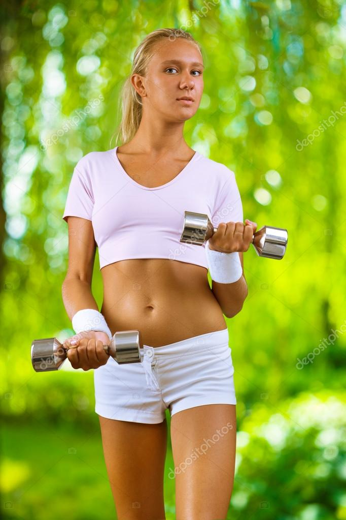 A girl training  Stock Photo #12501737
