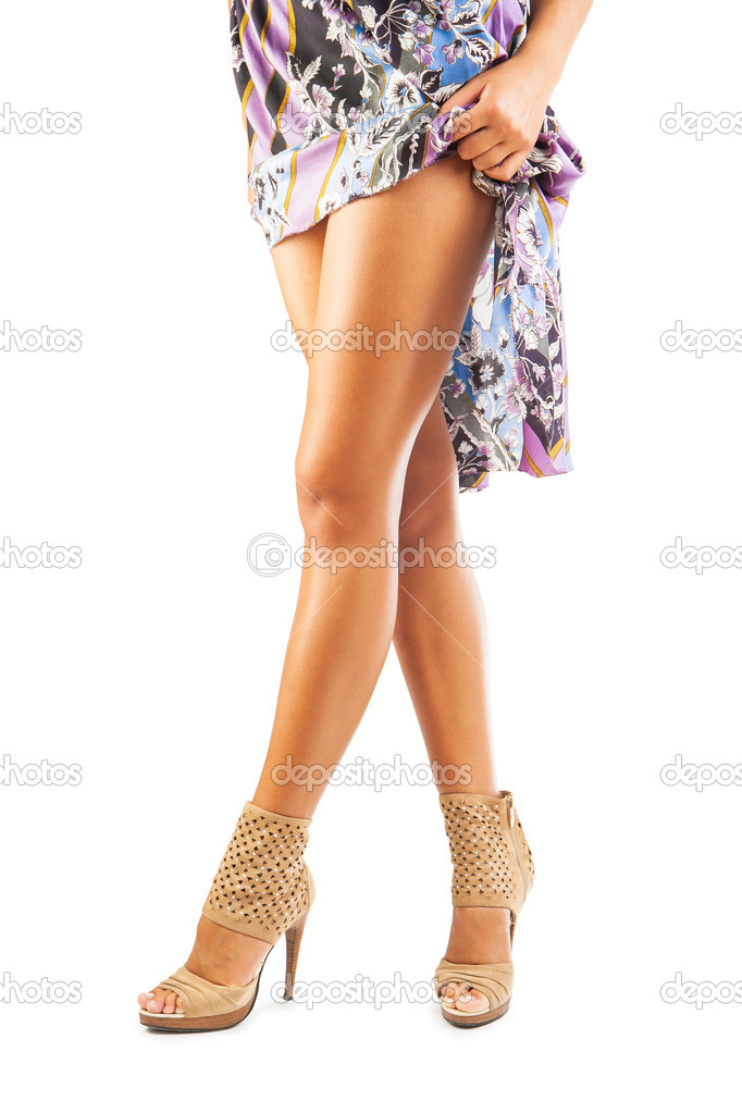 Close up view on woman legs — Stock Photo #12502732